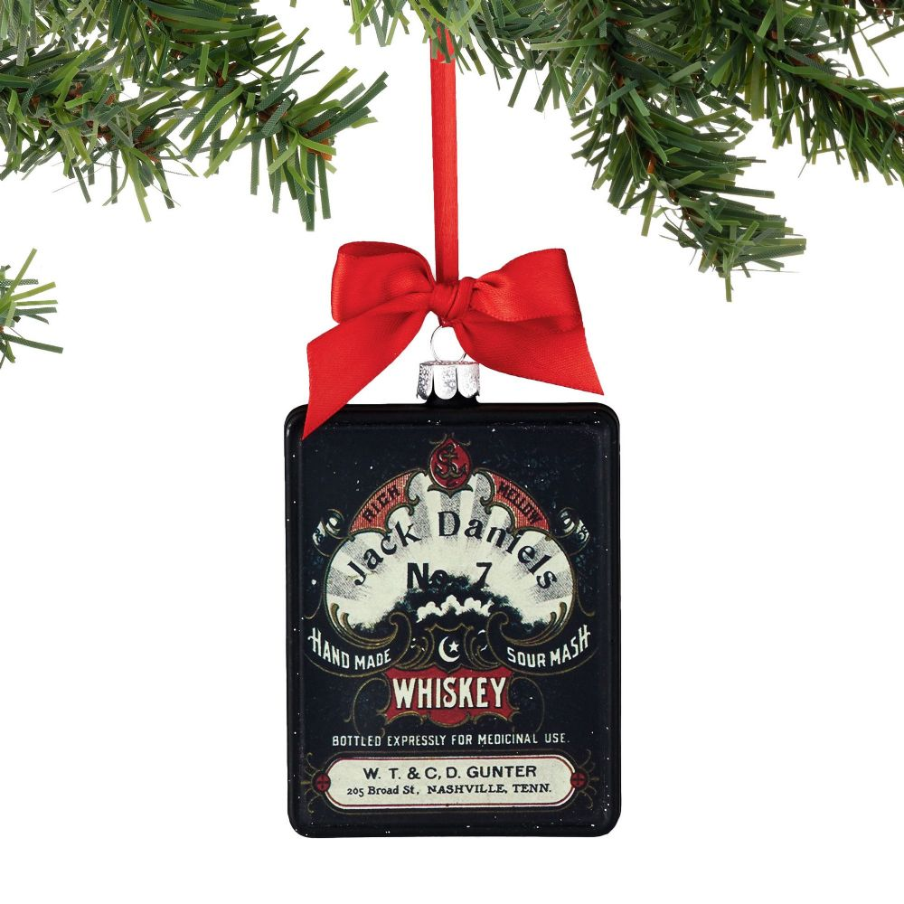 Department 56 Jack Daniel's Black Label Sour Mash Rectangle Christmas Ornament 4052192